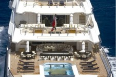 Oceanco Motor Yacht ALFA NERO - From Aft